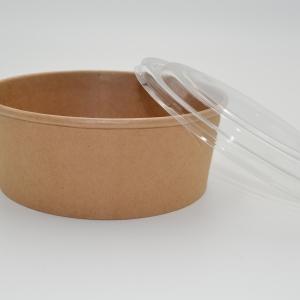 Popierine ruda salotine su dangteliu, 1100 ml.