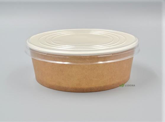 Popierine ruda salotine, 1100 ml, su dangteliu